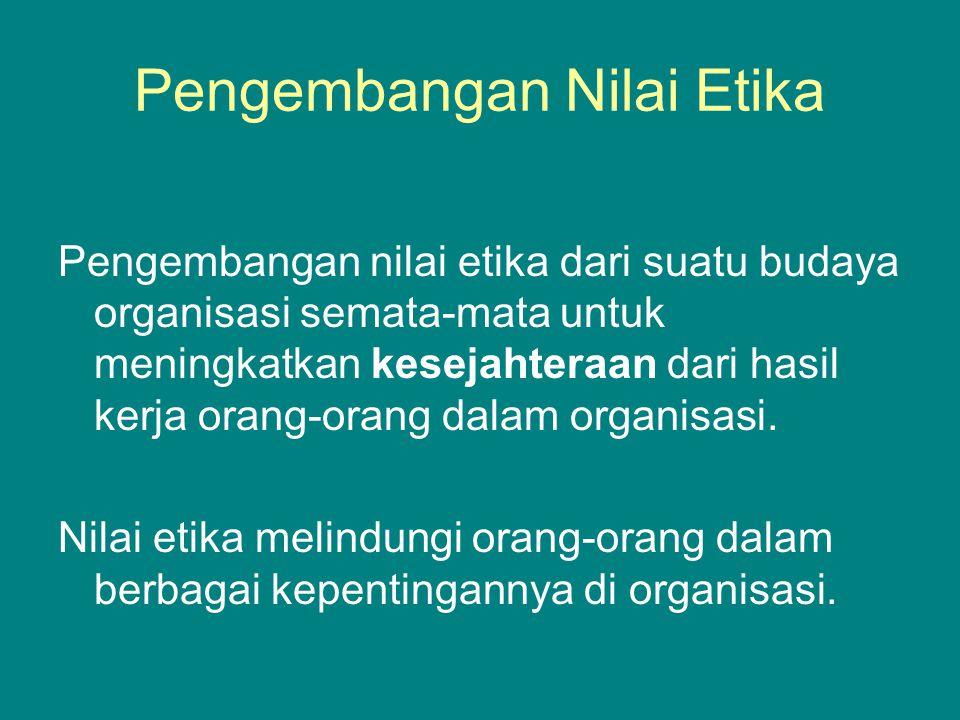 Pengembangan Nilai Etika