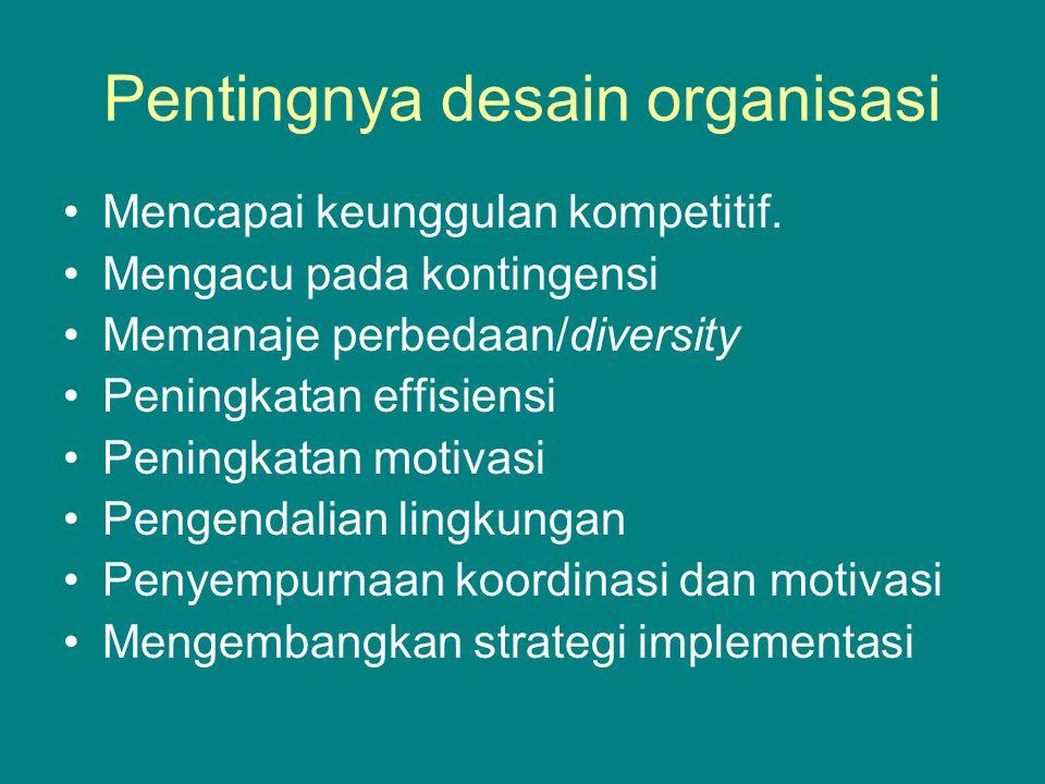 Pentingnya desain organisasi