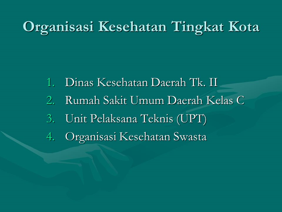 Organisasi Kesehatan Tingkat Kota