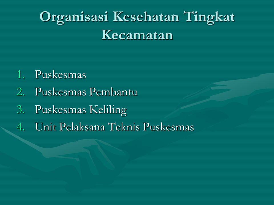 Organisasi Kesehatan Tingkat Kecamatan