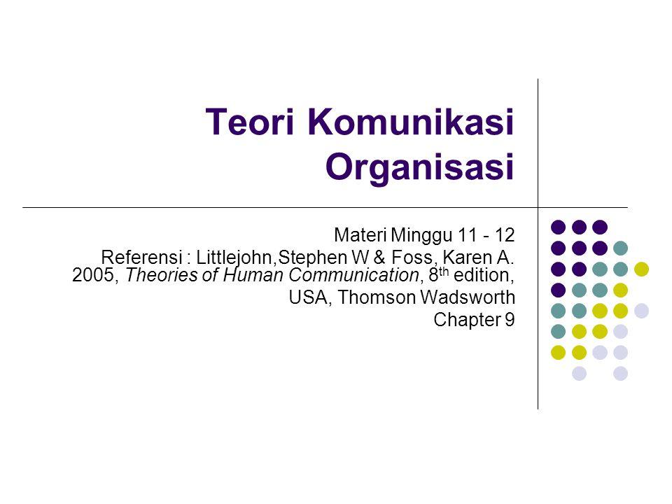 Teori Komunikasi Organisasi
