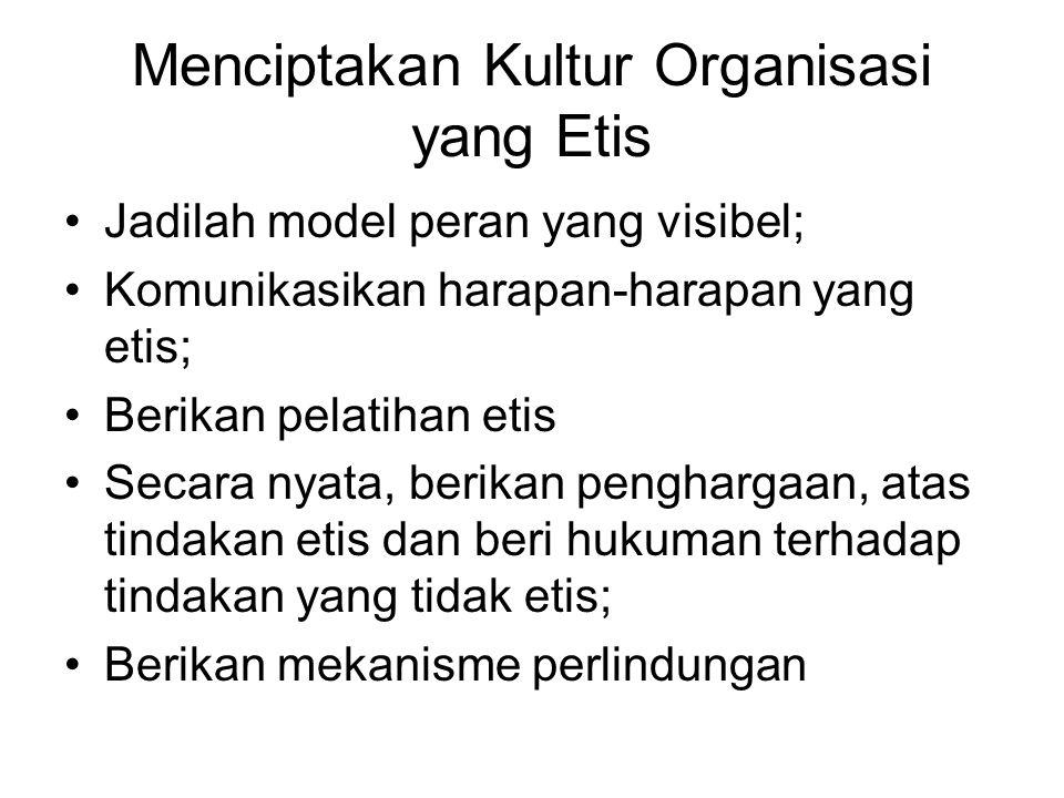 Menciptakan Kultur Organisasi yang Etis