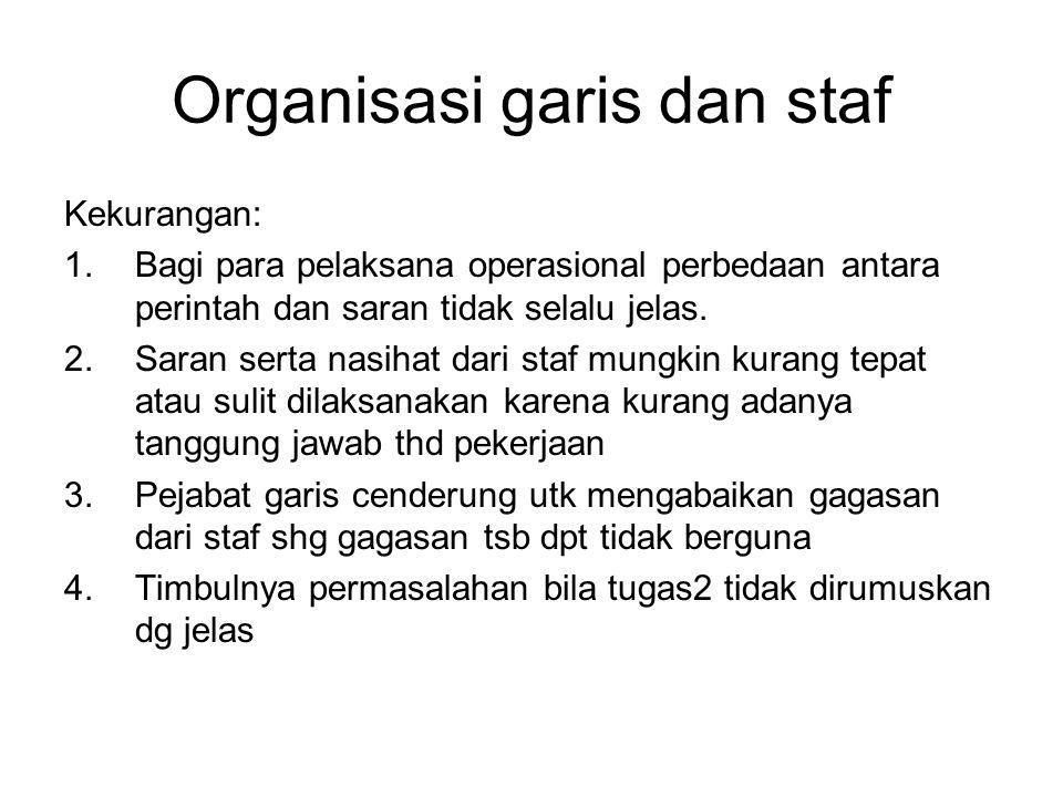 Organisasi garis dan staf