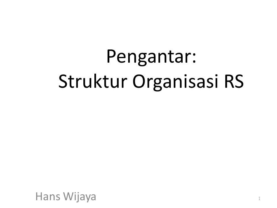 Pengantar: Struktur Organisasi RS