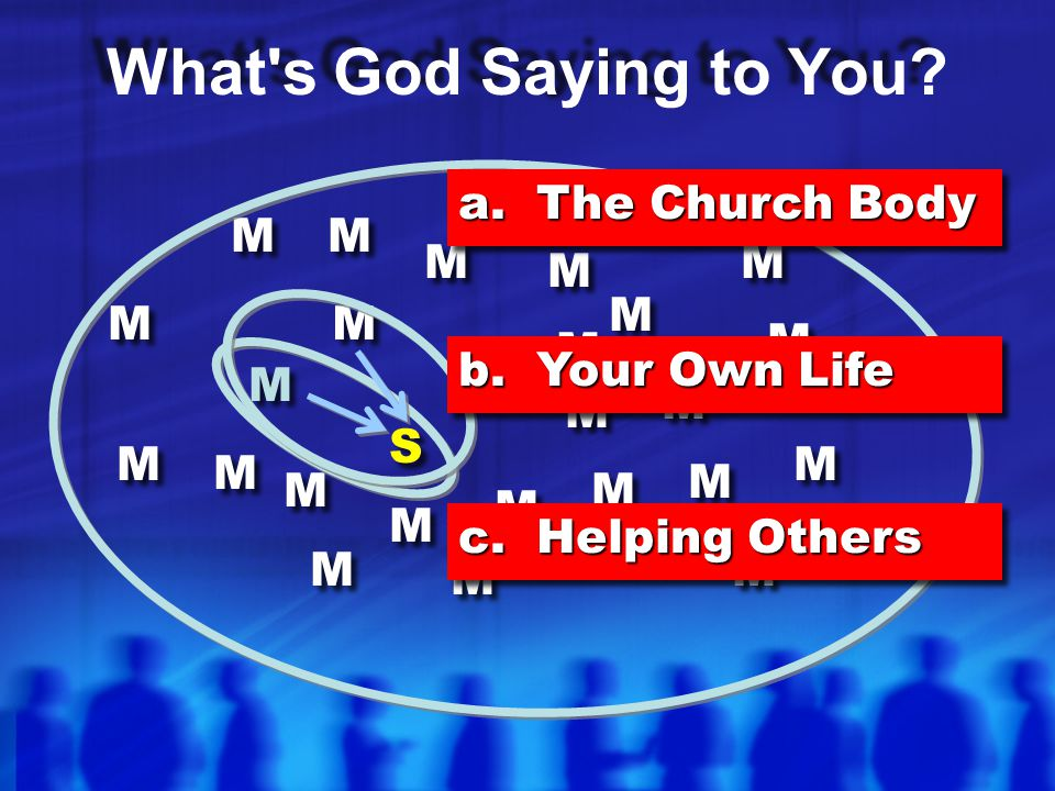What s God Saying to You a. The Church Body M M M M M M M M M M