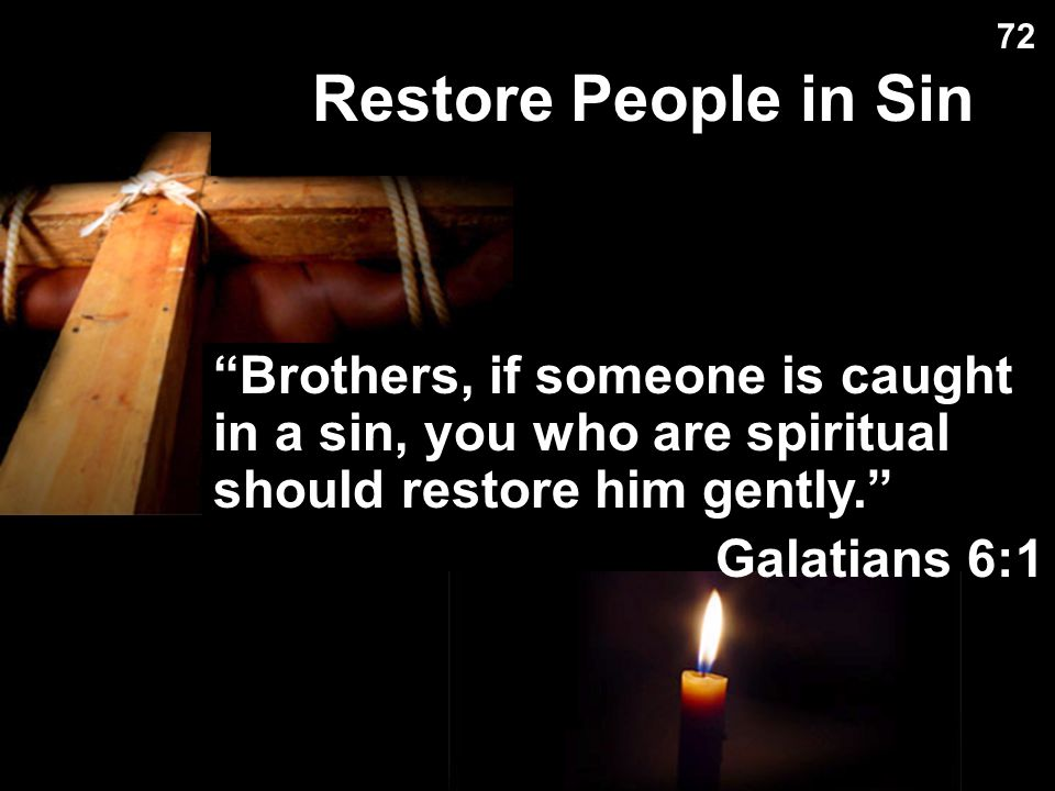 Restore People in Sin Restore People in Sin