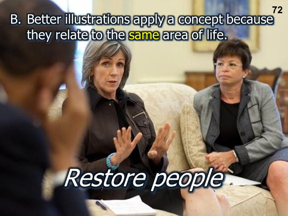 Restore nets Restore people