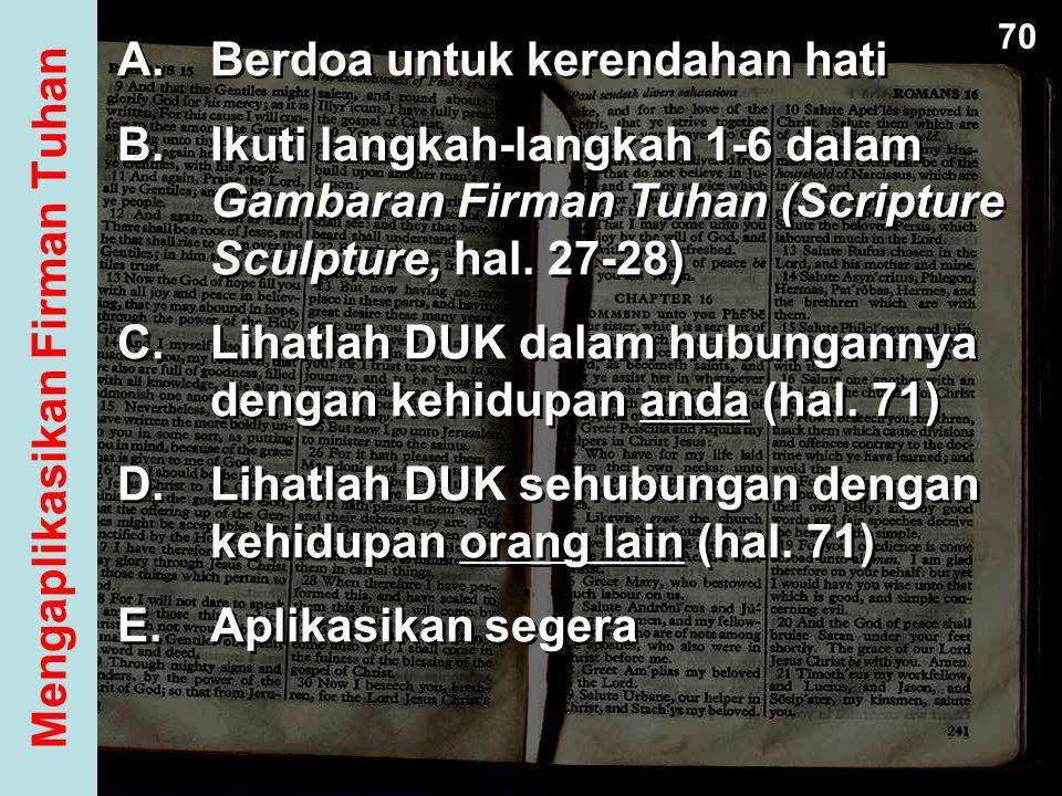 Mengaplikasikan Firman Tuhan