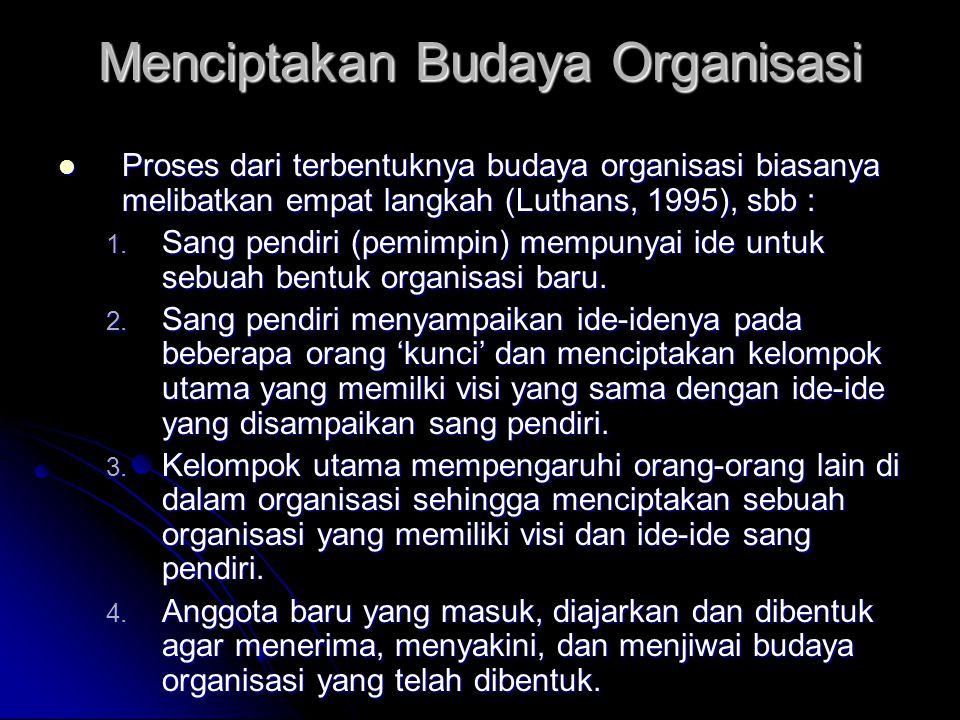 Menciptakan Budaya Organisasi
