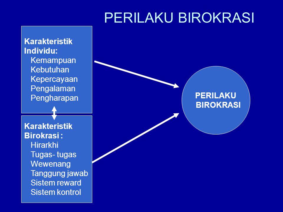 PERILAKU BIROKRASI Karakteristik Individu: Kemampuan Kebutuhan