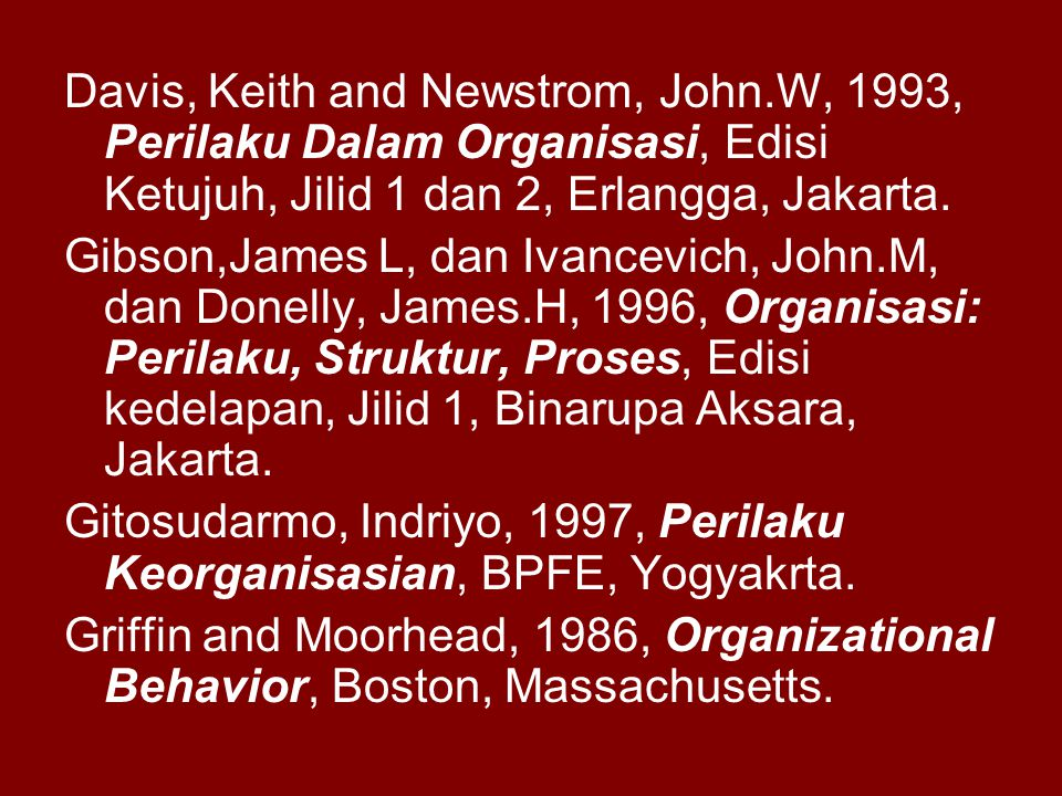 Davis, Keith and Newstrom, John