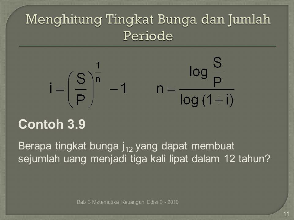 Menghitung Tingkat Bunga dan Jumlah Periode