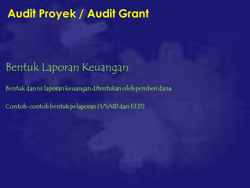 Audit Proyek / Audit Grant
