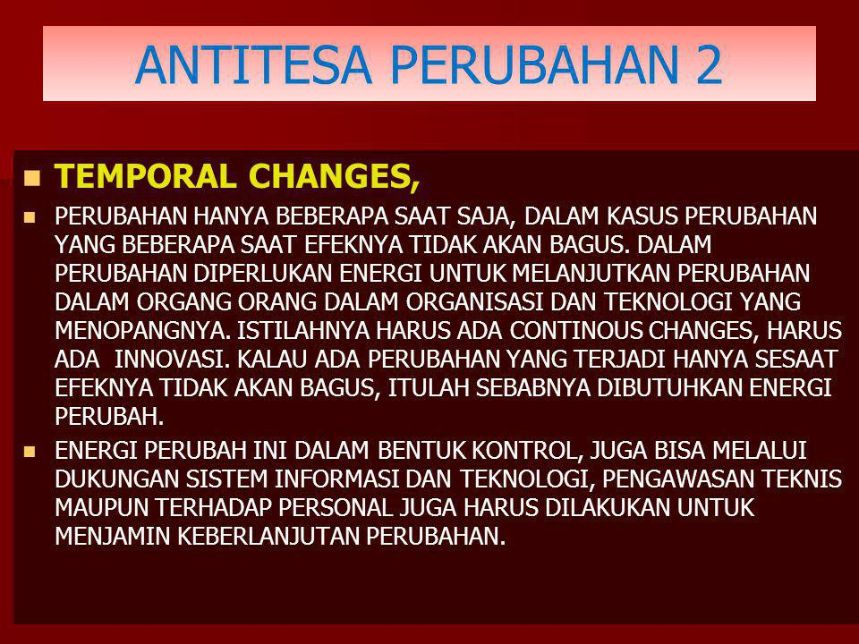 ANTITESA PERUBAHAN 2 TEMPORAL CHANGES,