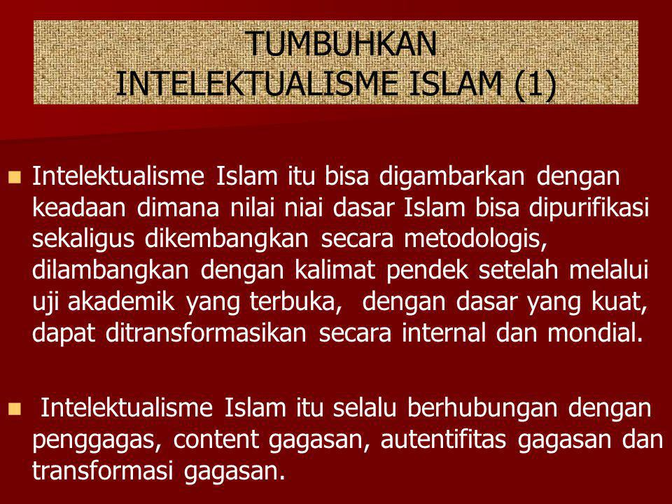TUMBUHKAN INTELEKTUALISME ISLAM (1)