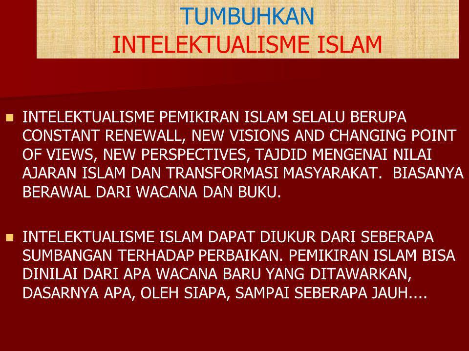 TUMBUHKAN INTELEKTUALISME ISLAM