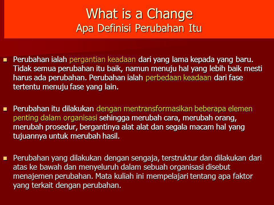 What is a Change Apa Definisi Perubahan Itu