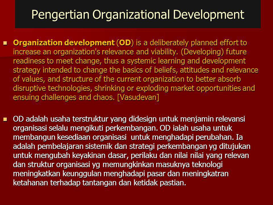 Pengertian Organizational Development
