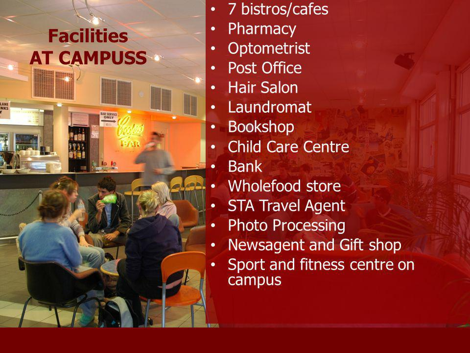 Flinders Facilities Facilities AT CAMPUSS 7 bistros/cafes Pharmacy