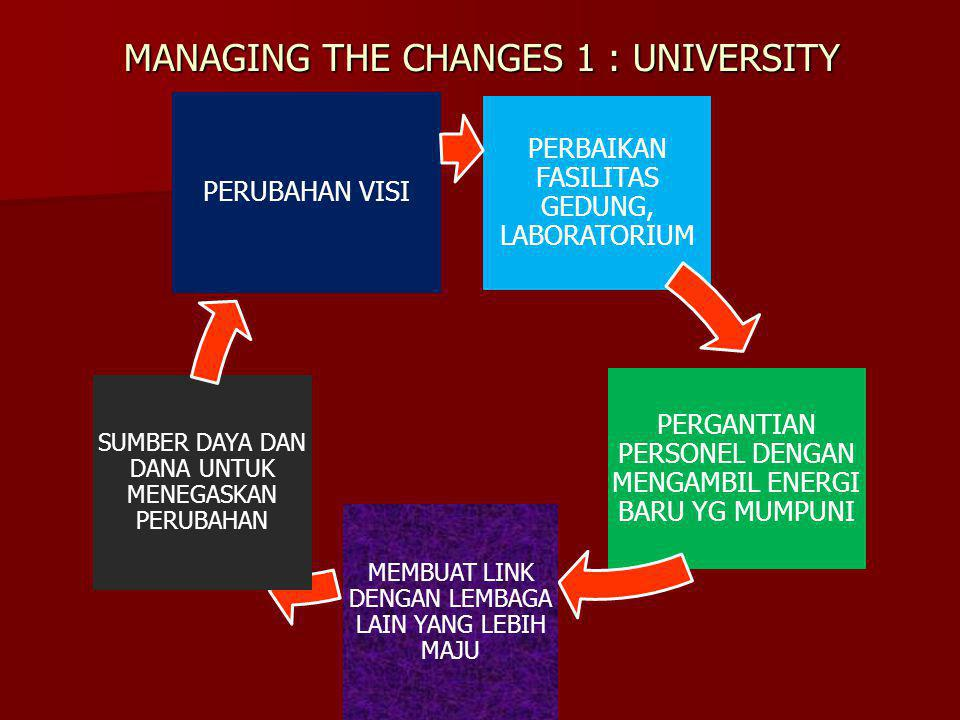 MANAGING THE CHANGES 1 : UNIVERSITY