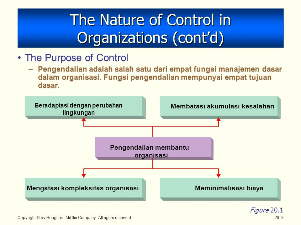 The Nature of Control in Organizations (cont'd)