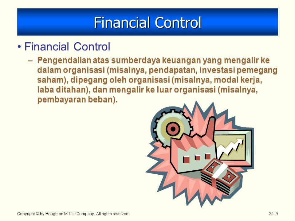 Financial Control Financial Control