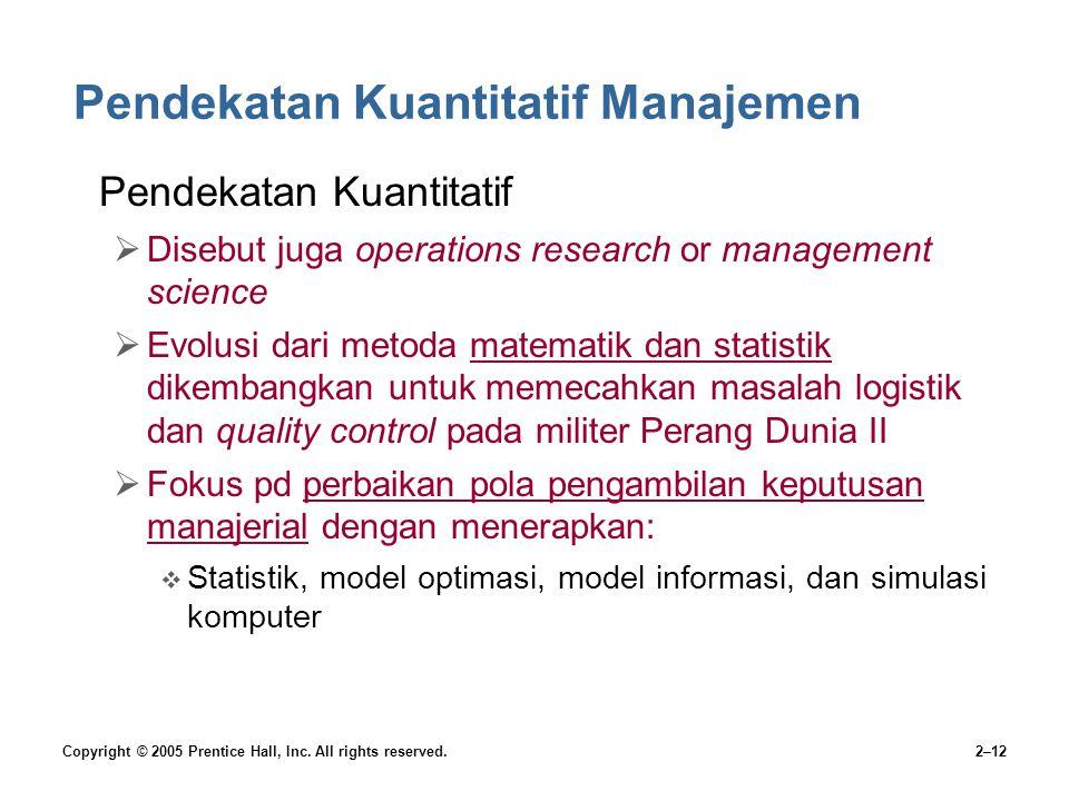 Pendekatan Kuantitatif Manajemen