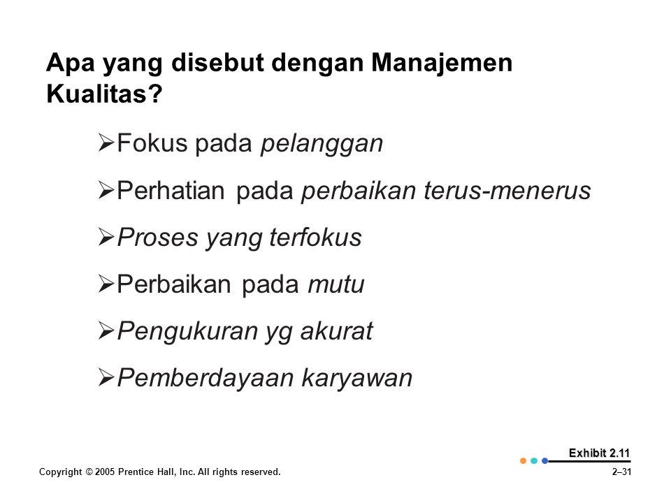 Apa yang disebut dengan Manajemen Kualitas