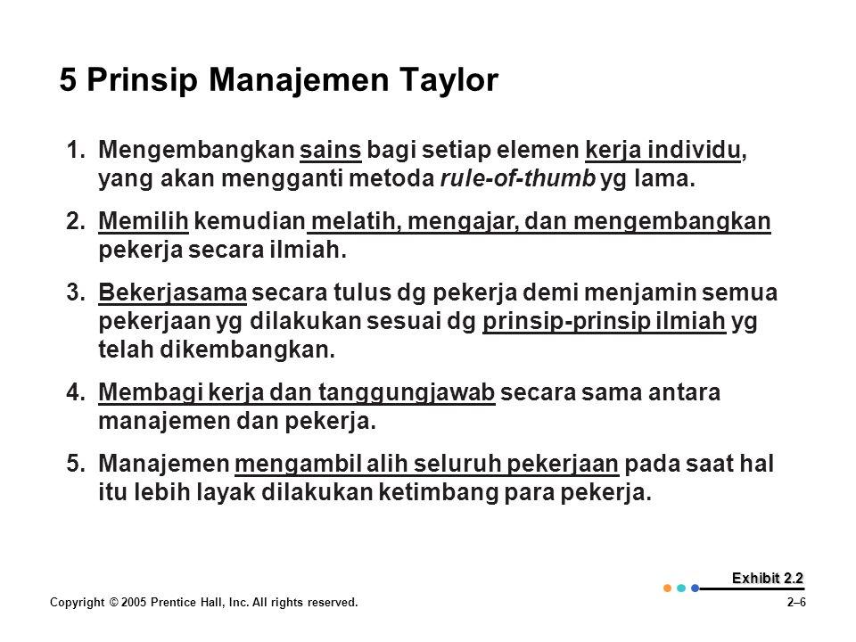 5 Prinsip Manajemen Taylor