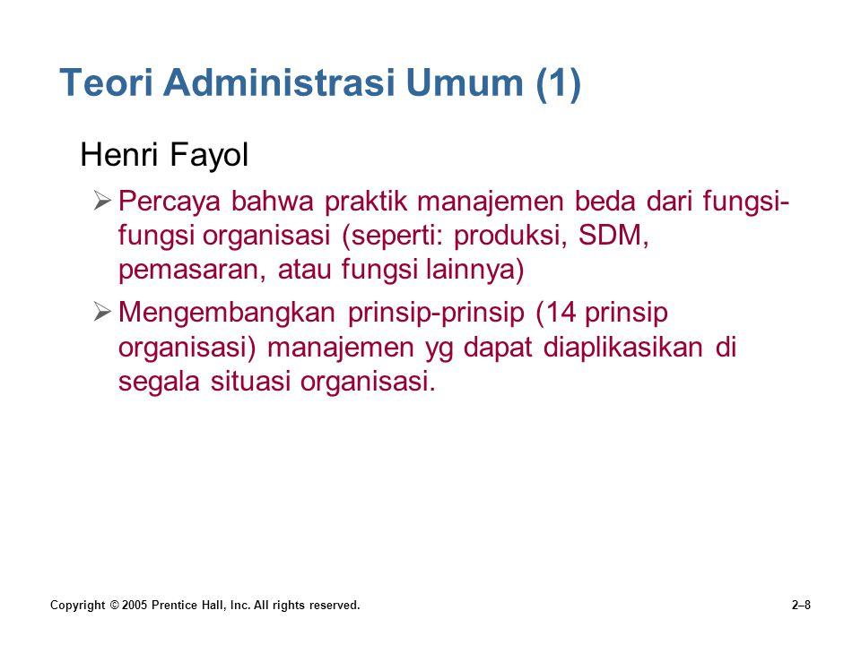 Teori Administrasi Umum (1)