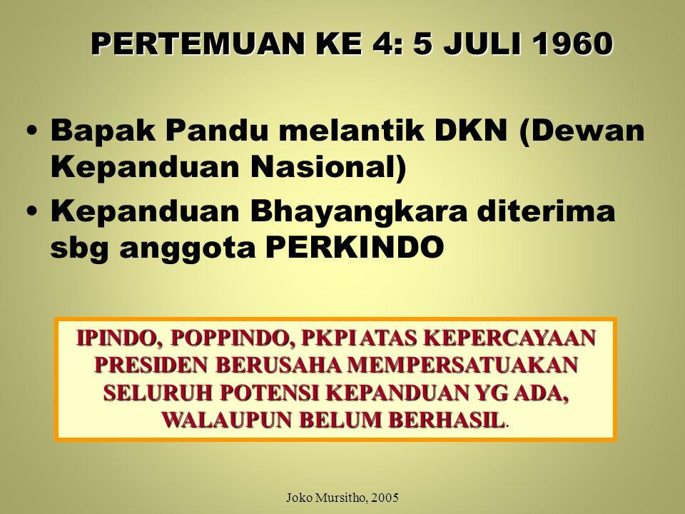 Bapak Pandu melantik DKN (Dewan Kepanduan Nasional)
