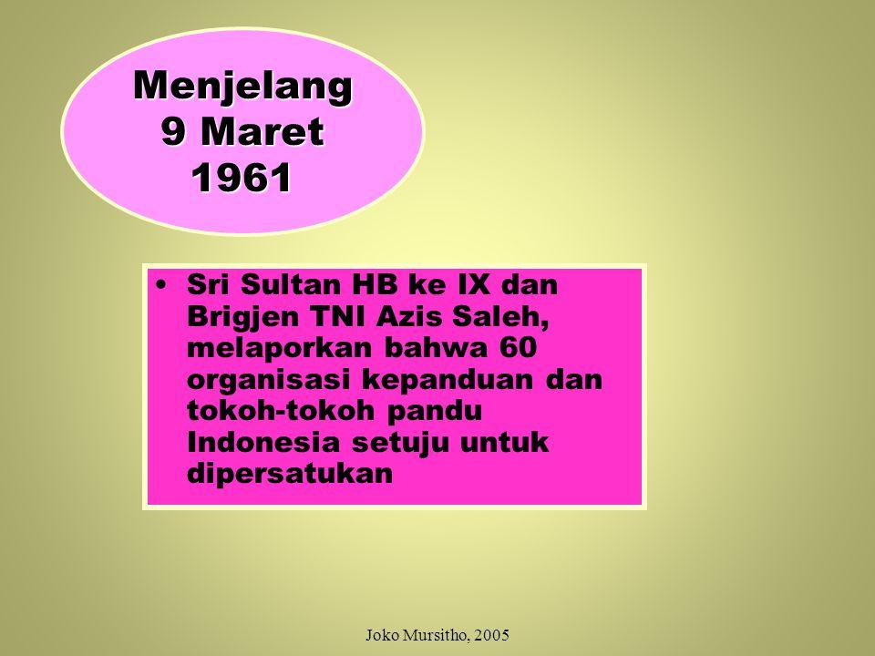 Menjelang 9 Maret 1961