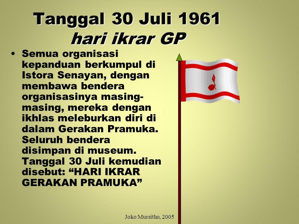 Tanggal 30 Juli 1961 hari ikrar GP