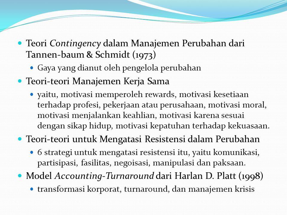 Teori-teori Manajemen Kerja Sama