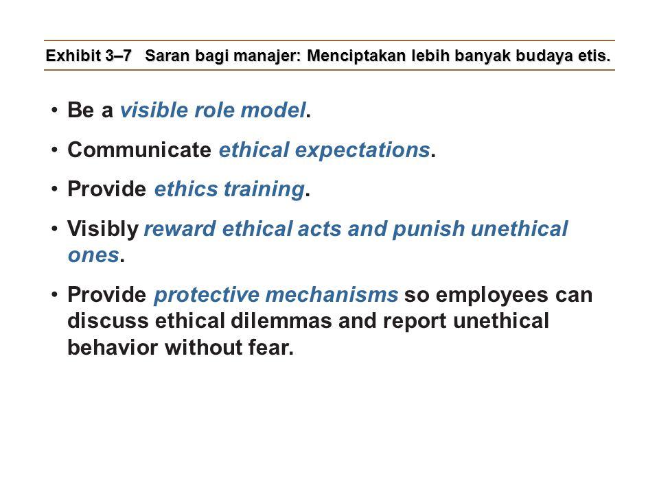 Exhibit 3–7 Saran bagi manajer: Menciptakan lebih banyak budaya etis.