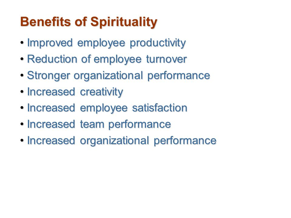 Benefits of Spirituality