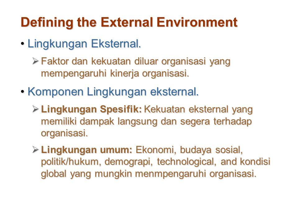 Defining the External Environment