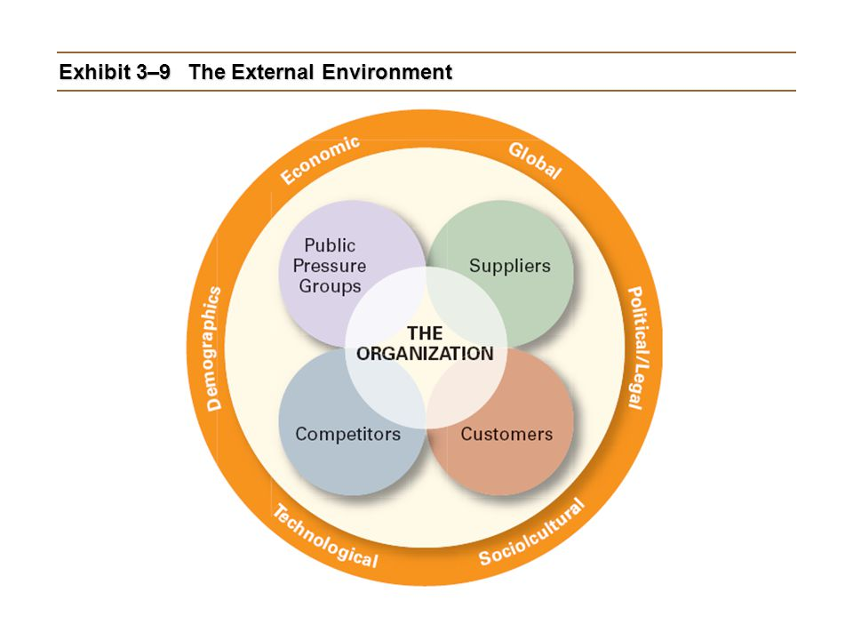 Exhibit 3–9 The External Environment