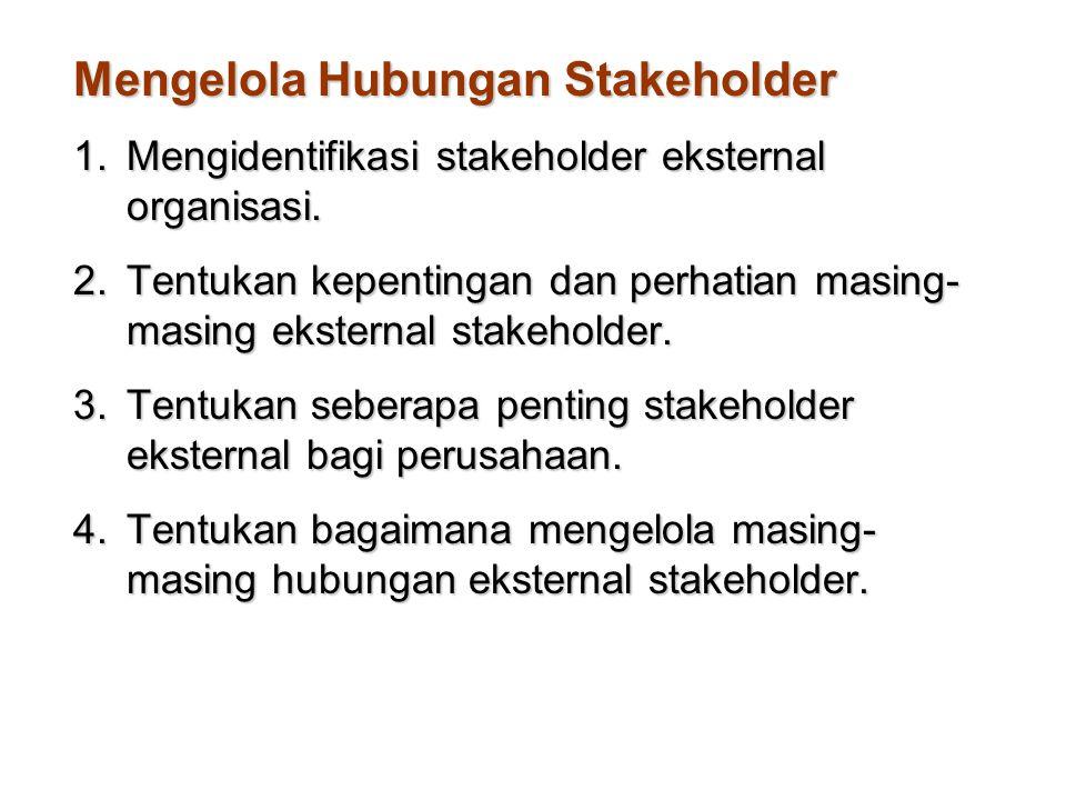 Mengelola Hubungan Stakeholder