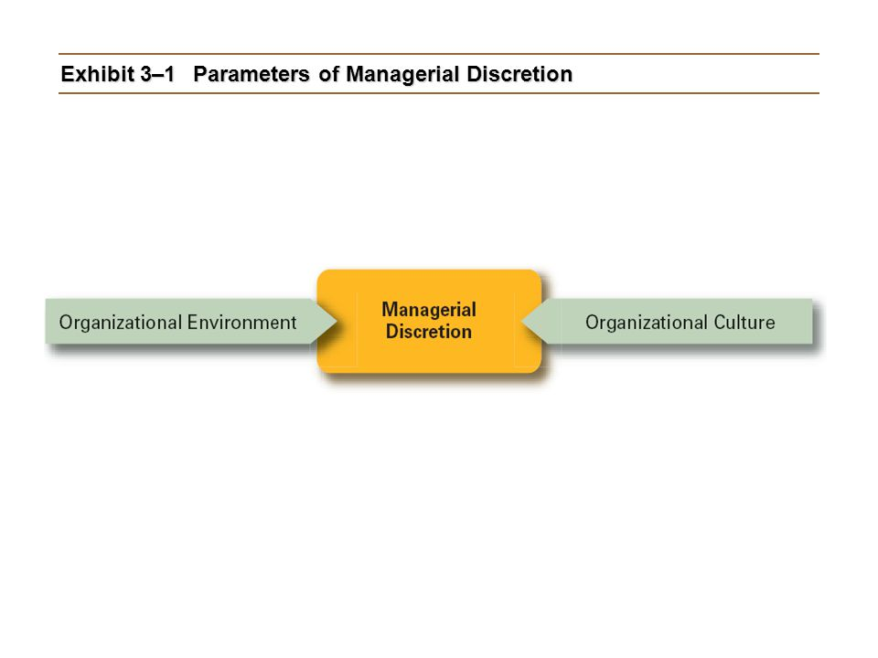 Exhibit 3–1 Parameters of Managerial Discretion