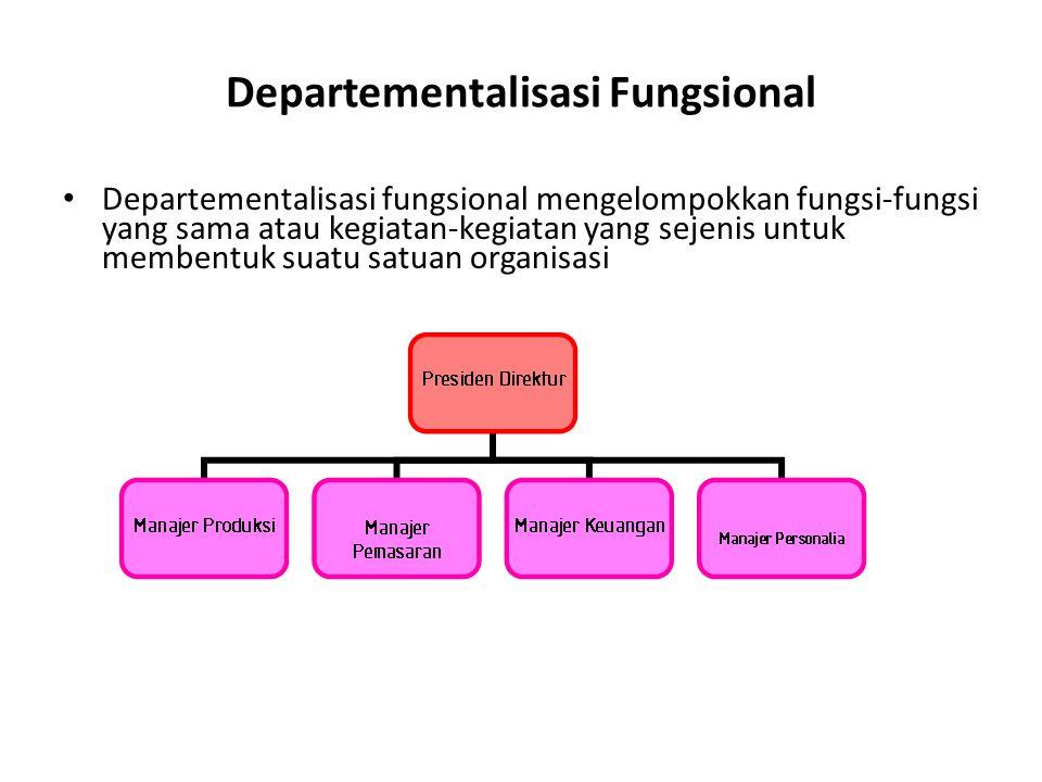 Departementalisasi Fungsional