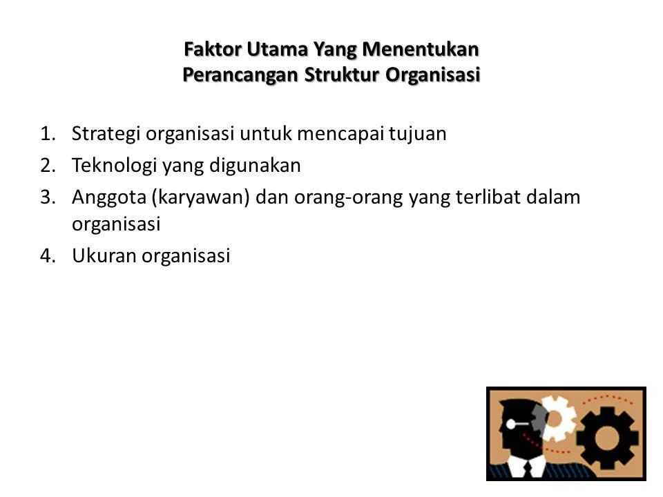 Faktor Utama Yang Menentukan Perancangan Struktur Organisasi