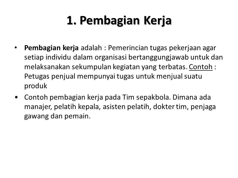 1. Pembagian Kerja