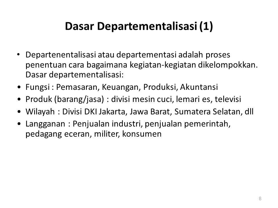 Dasar Departementalisasi (1)