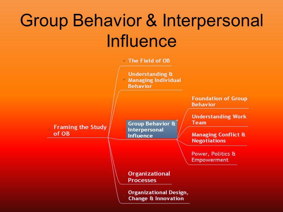 Group Behavior & Interpersonal Influence