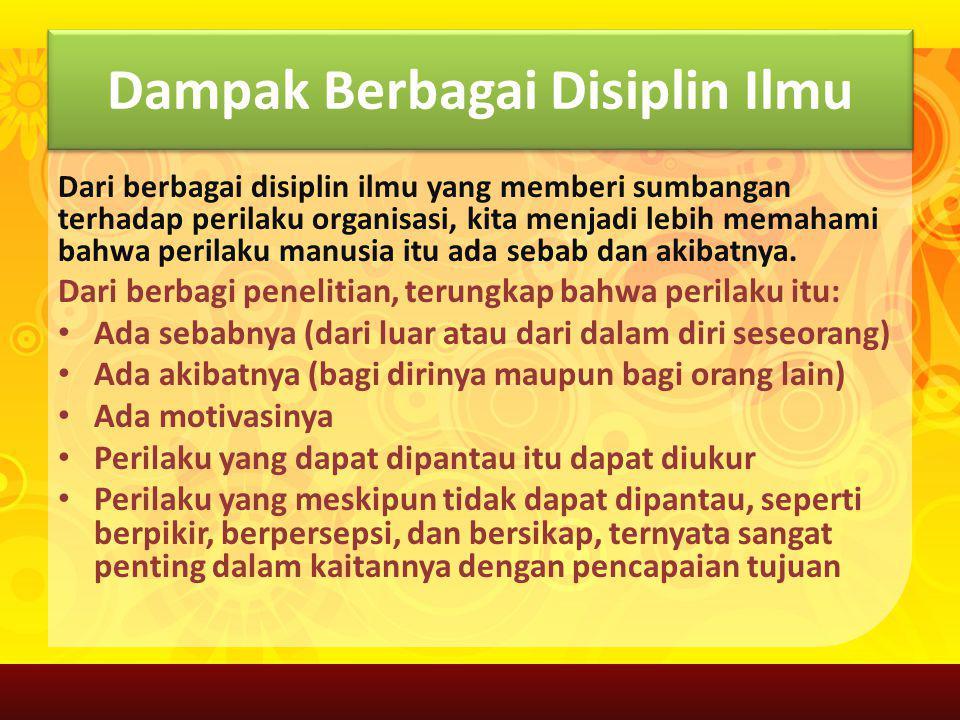 Dampak Berbagai Disiplin Ilmu