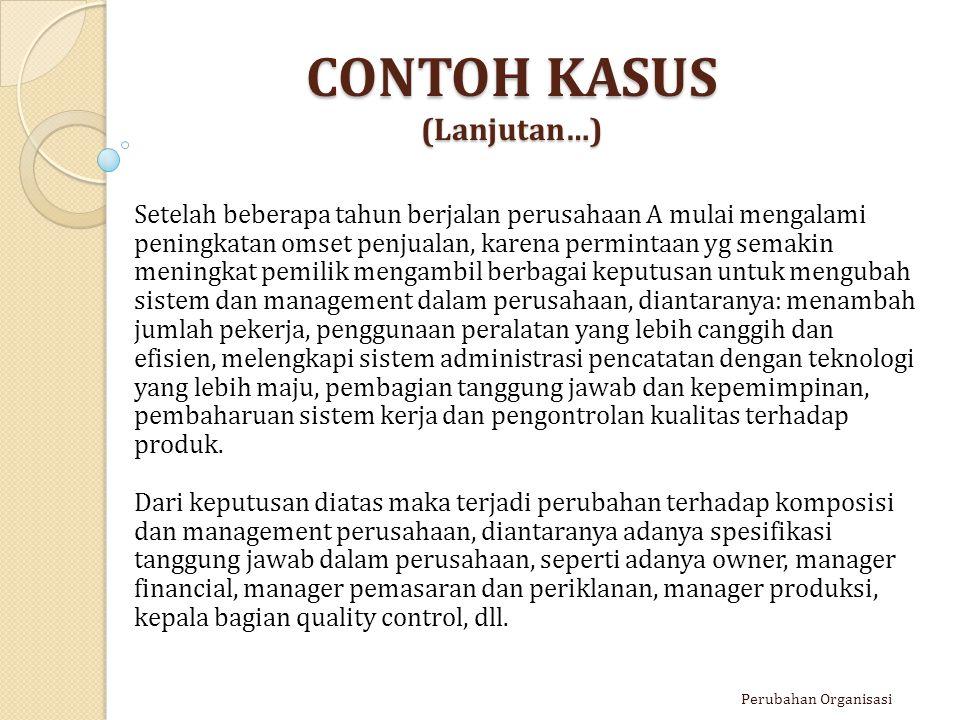 CONTOH KASUS (Lanjutan…)
