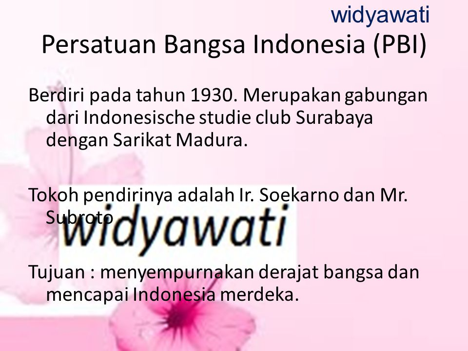Persatuan Bangsa Indonesia (PBI)