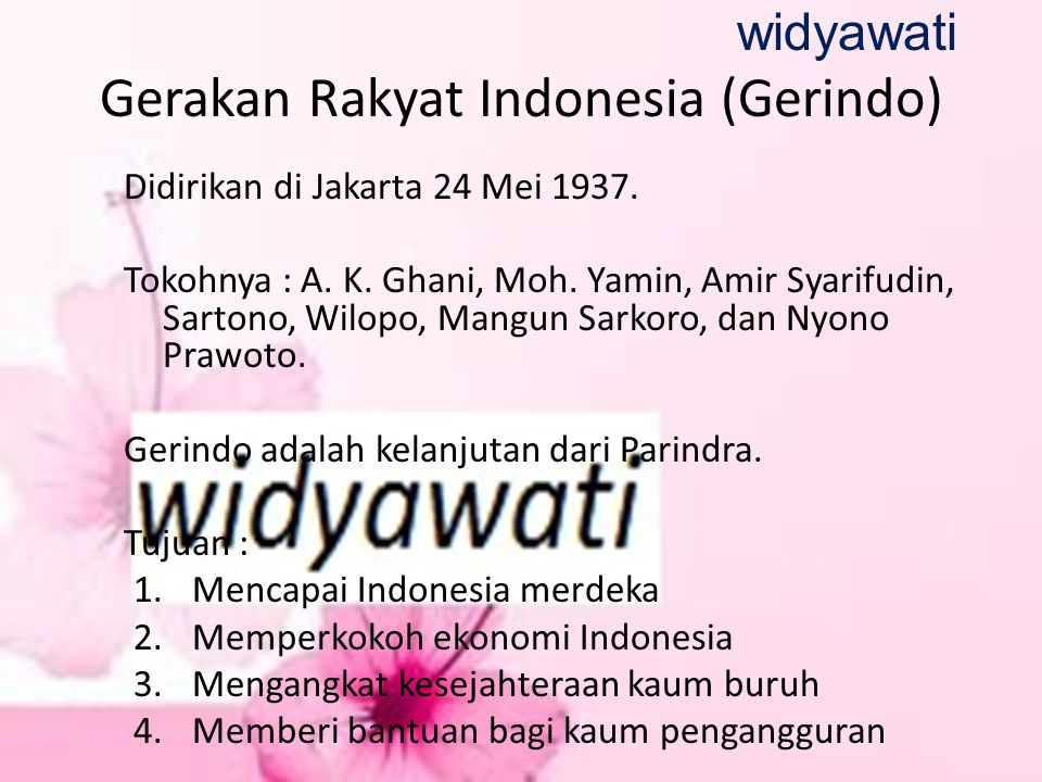 Gerakan Rakyat Indonesia (Gerindo)