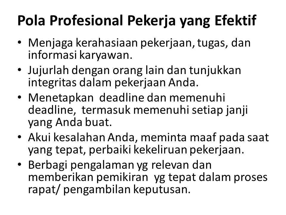 Pola Profesional Pekerja yang Efektif